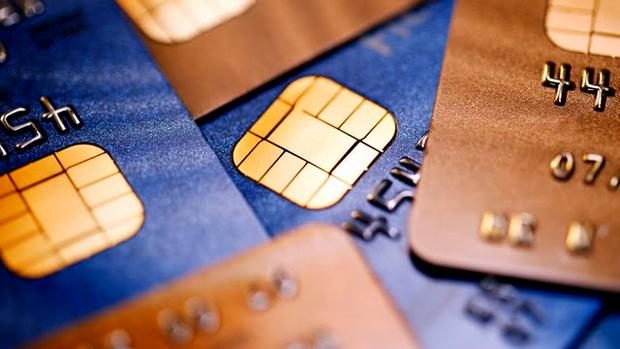 Банковская карточка с чипом без